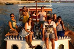 A sunset cruise with friends