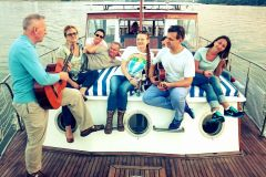 A Russian family trip with guitars and ballades