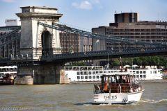 Sailing under the Chain Bridge